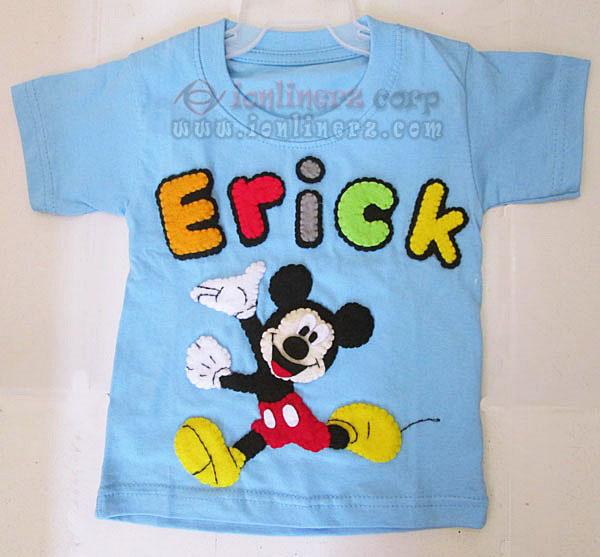 Kaos / Baju Flanel Anak Karakter Kartun Mickey Mouse