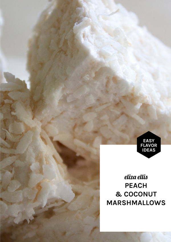Peach & Coconut Homemade Marshmallows - Easy Flavor Ideas by Eliza Ellis