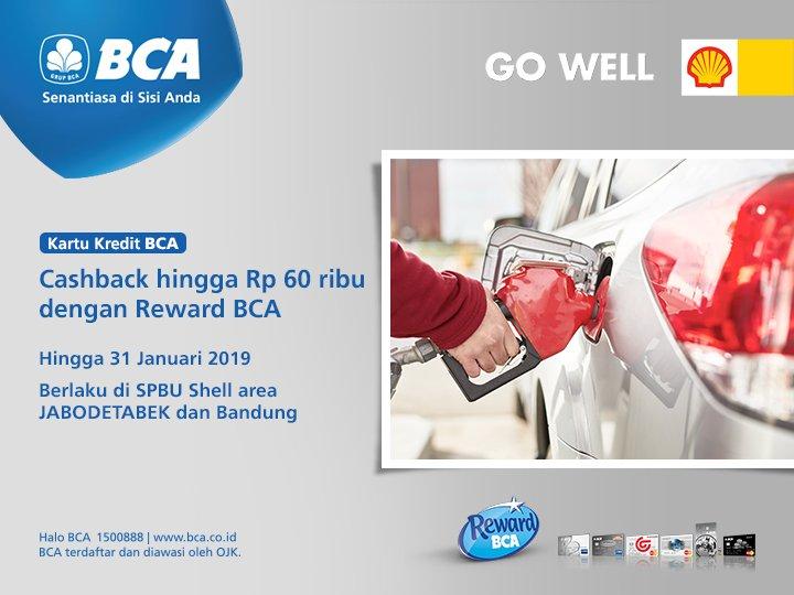 #BankBCA - Promo Cashback Up To Rp. 60 ribu dengan Reward BCA di SPBU SHELL