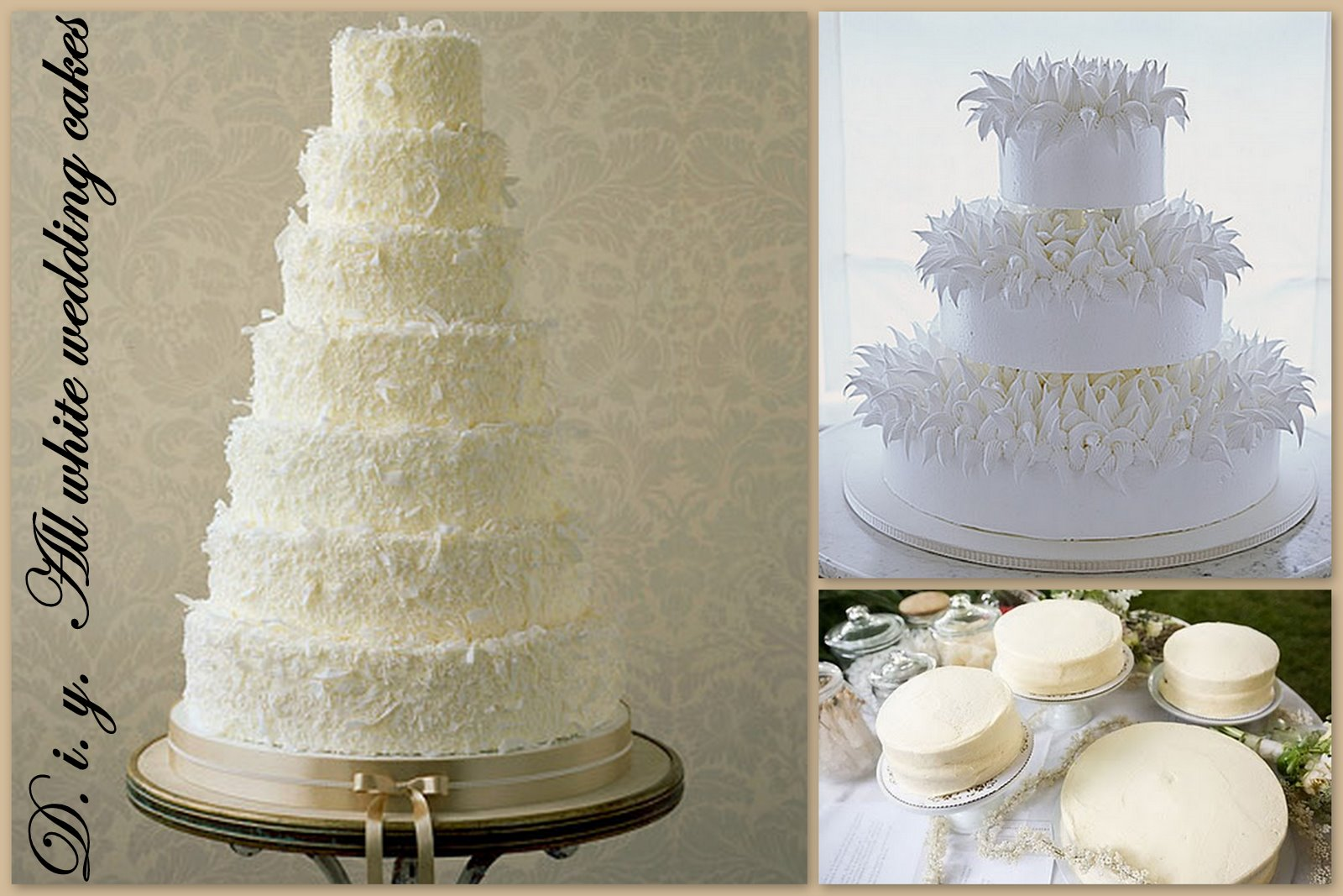 Get the Wedding Look For Less  Your All White Winterwonderland  All     Your All White Winterwonderland  All White Wedding Cakes