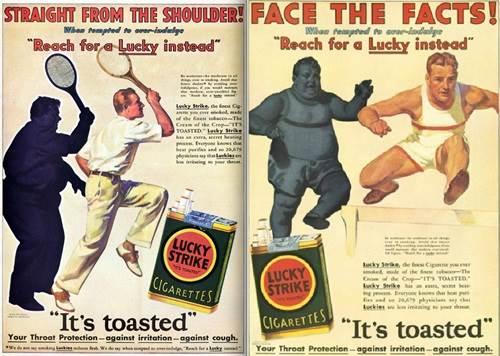vintage lucky strikes advertisement