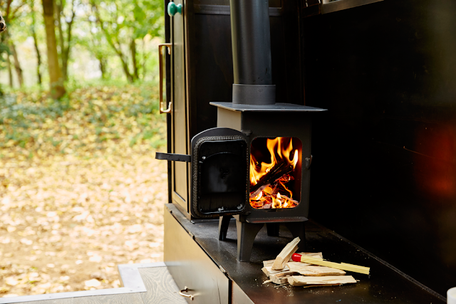 Ruby the glampervan wood burner - Christabels