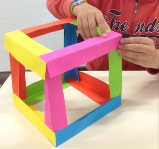 Construire cube 3D