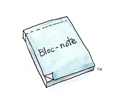 Block-note by Yukié Matsushita