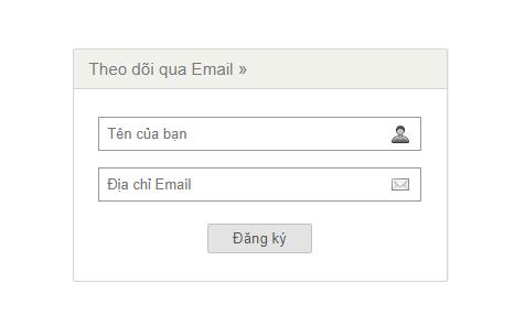 Form đăng ký nhận bài viết mới qua email cho blogspot