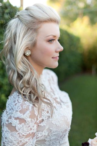 Wedding Hairstyles For Medium Length Hair Half Down