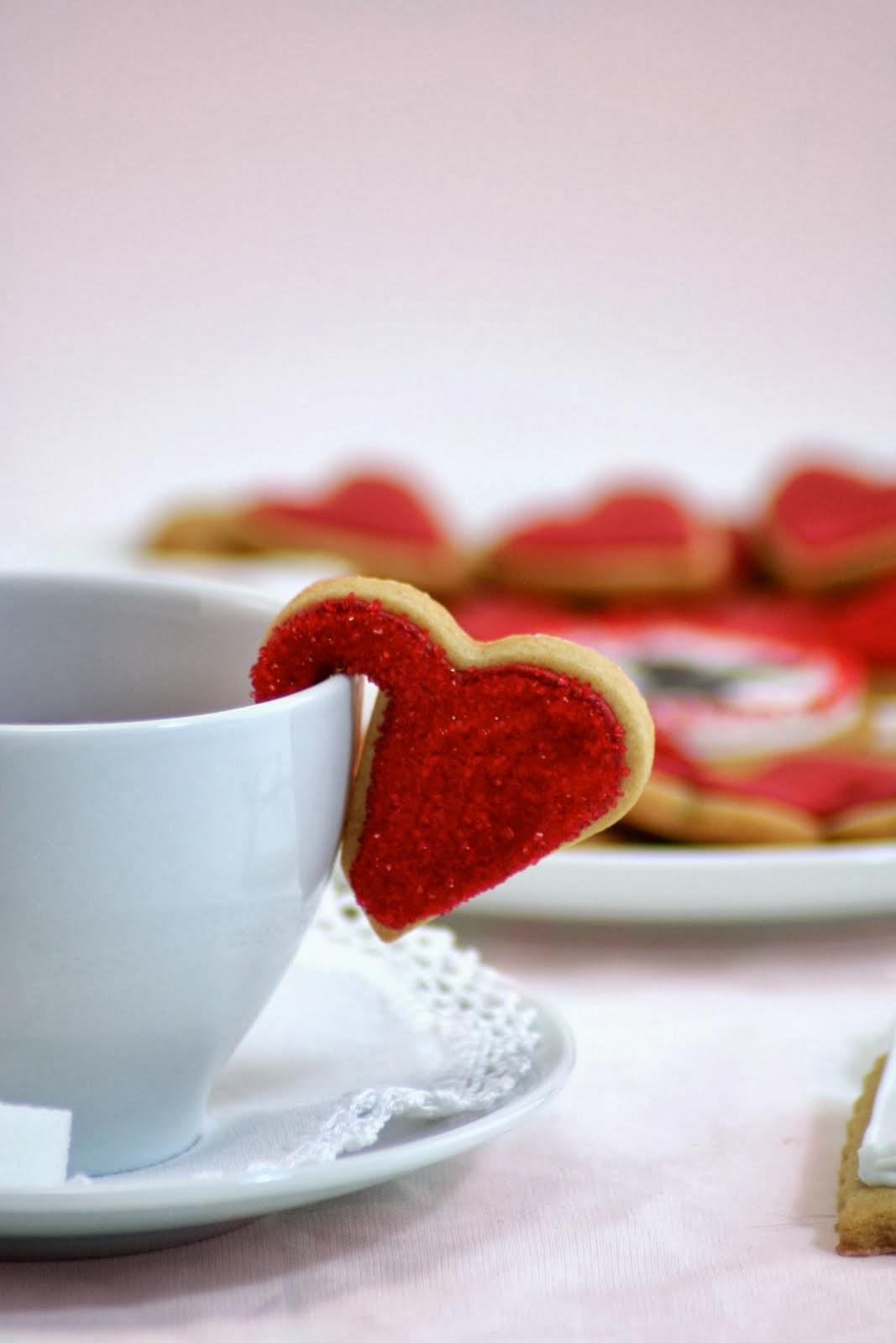 decoracion para la taza de te corazon