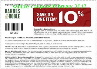 Barnes and Noble coupons february