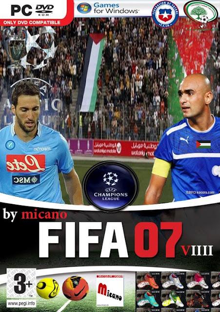 الاصدار الرابع : حصريا احدث باتشات فيفا 2007 لعام 2014 , المنتخب الفلسطيني لفيفا 2007 ,باتش دوري ابطال اوروبا, والمزيد