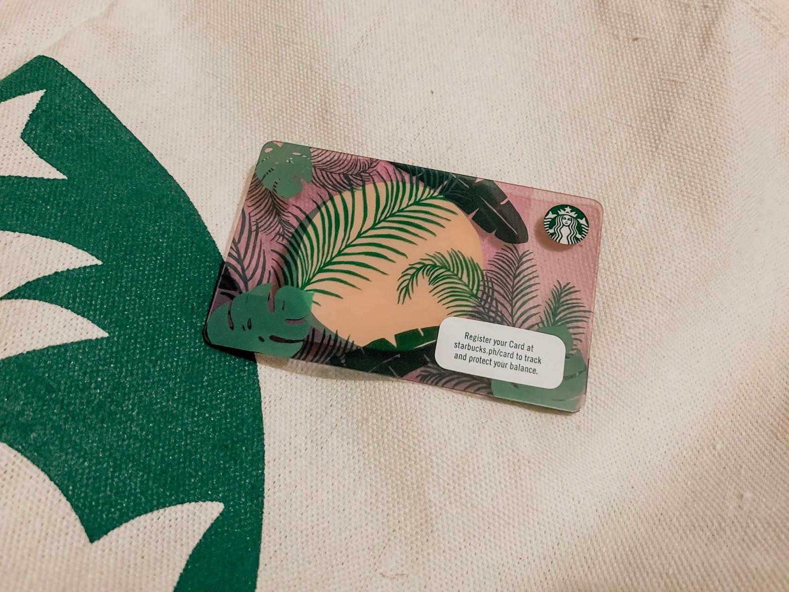 Starbucks Botanical Card Jexx Hinggo