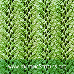 Vine lace | Knitting Stitch Patterns. Very easy to follow and keeps you awake.
