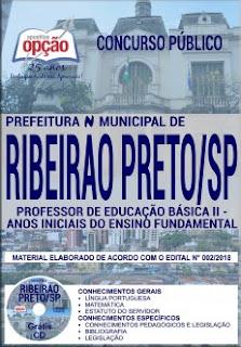 gratis apostila Prefeitura de Ribeirão Preto 2018 PDF