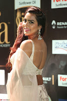 Prajna Actress in backless Cream Choli and transparent saree at IIFA Utsavam Awards 2017 0106.JPG