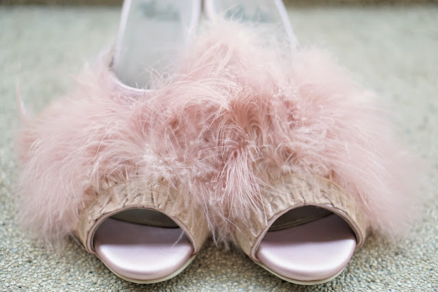 Sala Chaussures Fluffy Mule Heels