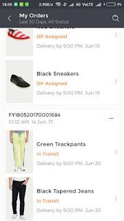 fynd app order proof