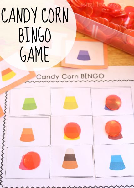 Work on fine motor skills, color recognition, and just have some fun with our printable Candy Corn Bingo Game!