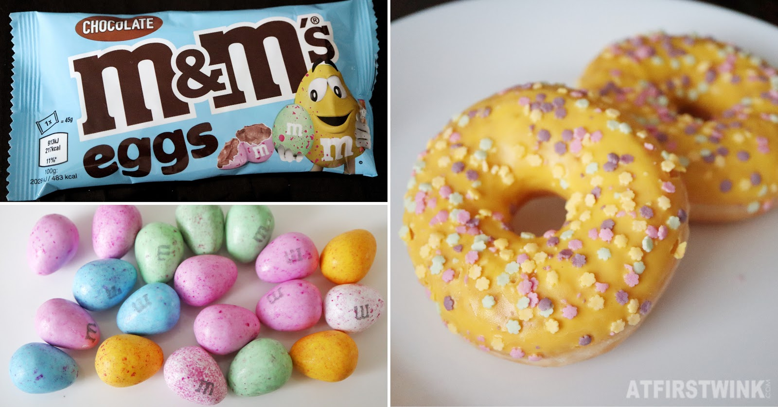 M&Ms speckled easter eggs chocolates Lidl donuts