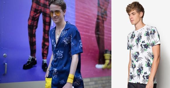 Baju Lelaki Trend Terkini Jenis Floral Printed T-Shirt