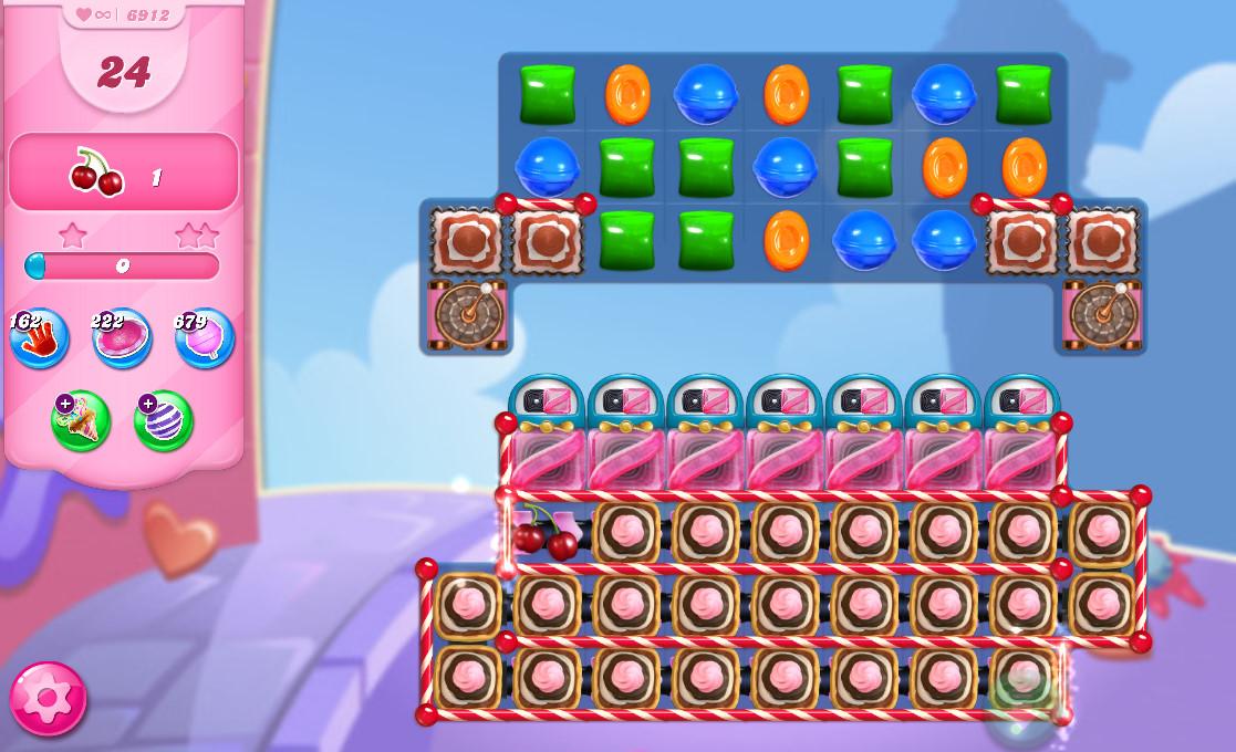 Candy Crush Saga level 6912