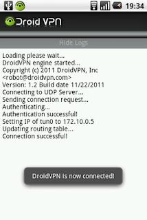 Internet Gratis di Android dengan DroidVPN
