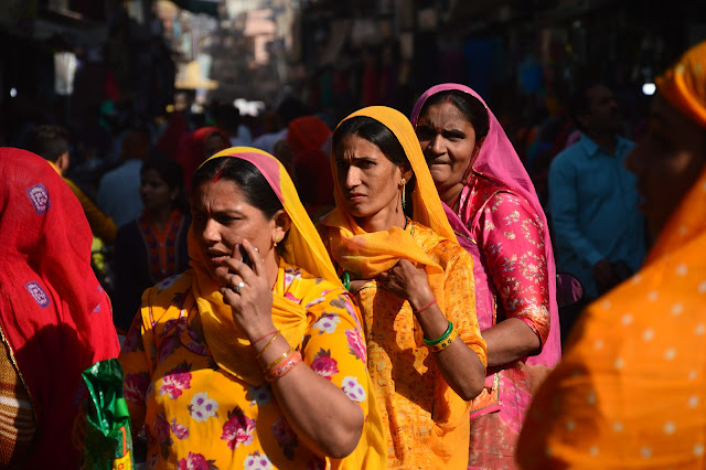 Femmes en saree à Jodhpur