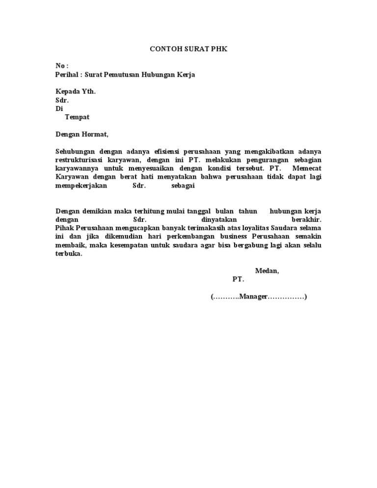 Surat Resign Tulisan Tangan Surat Kerja O