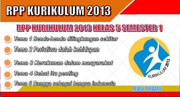 RPP Kurikulum 2013 SD Kelas 5 Semester 1 revisi terbaru tahun 2018