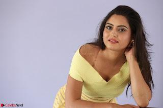 Shipra gaur in V Neck short Yellow Dress ~  022.JPG