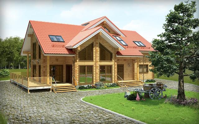 27 Desain Gambar Rumah Kayu Minimalis Menghidupkan Imajinasi
