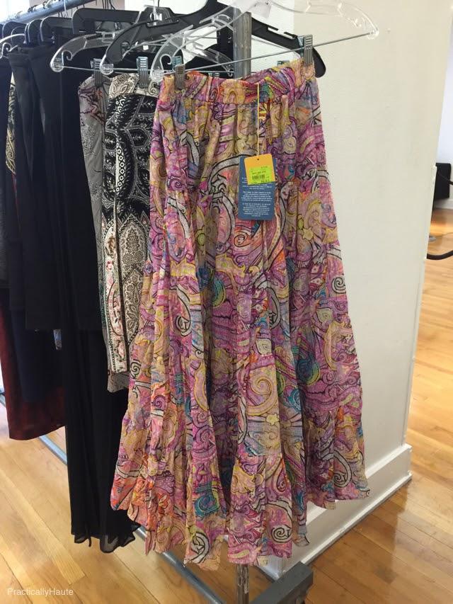 Etro sample sale paisley long skirt