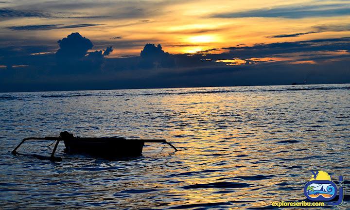 sunset pulau sebira-pulau harapan
