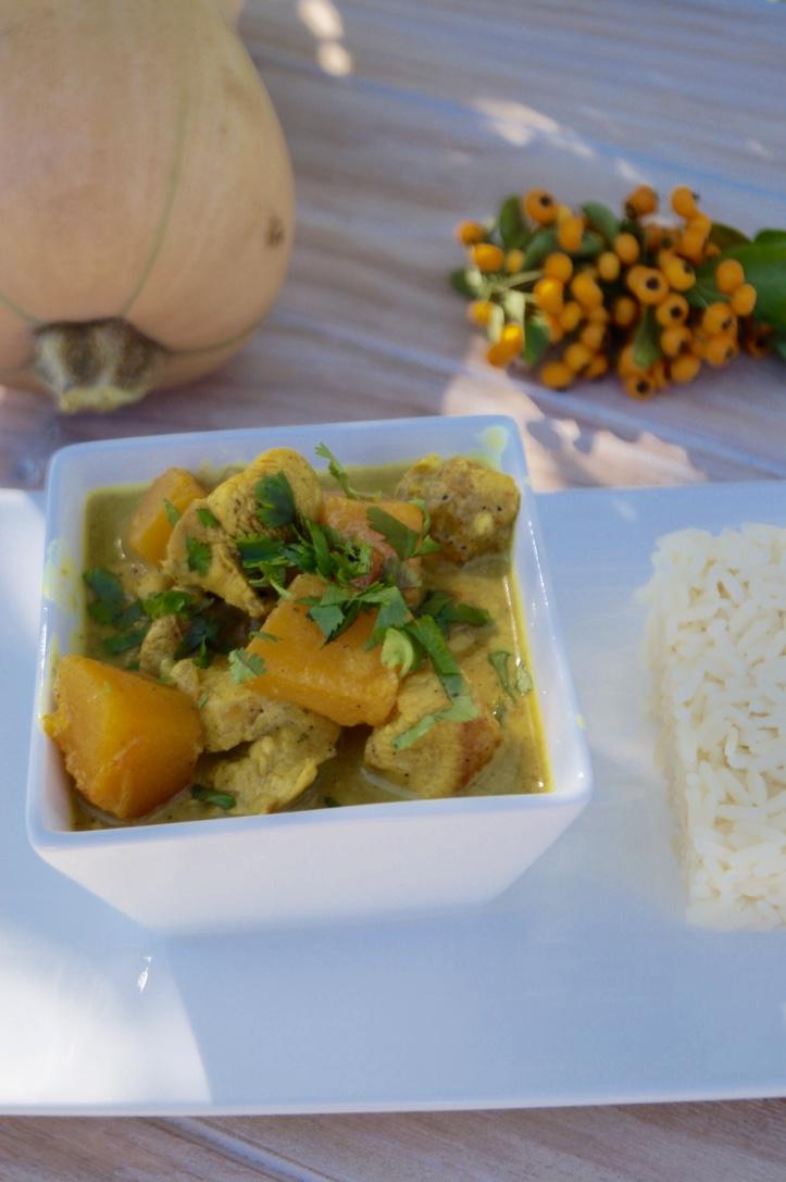 Poulet A La Butternut Au Lait De Coco Et Au Curry