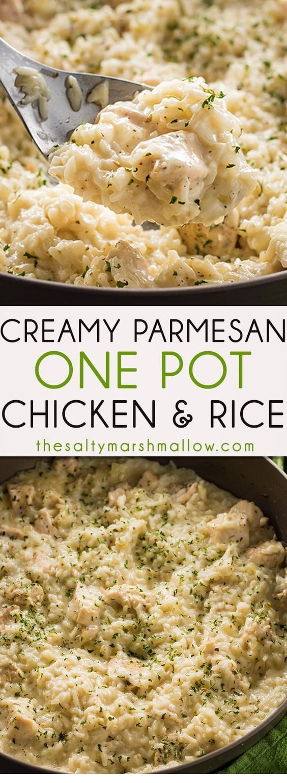 Creamy Parmesan One Pot Chicken and Rice
