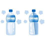 凍らせたペットボトル飲料のイラスト