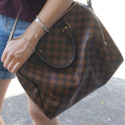 Away From Blue Slouchy Tees Shorts And Lv Speedy Bag For
