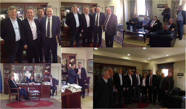 Επίσκεψη Βύρωνα Πολύδωρα στο Δημαρχείο Φιλιατών
