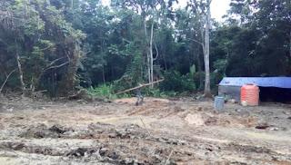 Basecamp pelanggan Trial Dozer Caterpillar D5R Land Clearing di Proyek Cetak Sawah Ampah Kalimantan Tengah