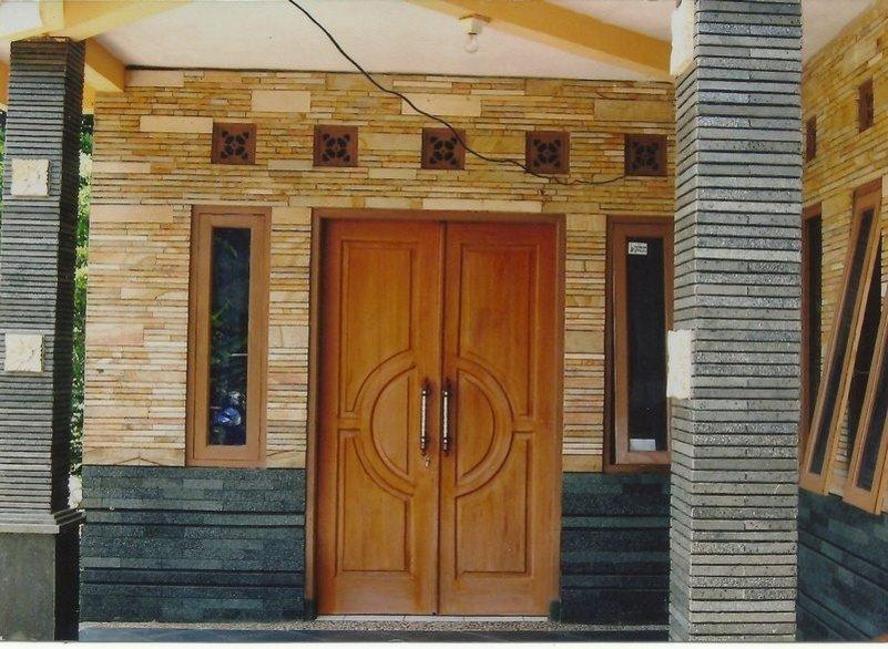 motif keramik dinding teras yang modern