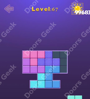 Cheats, Solutions, Walkthrough for Move Blocks Easy Level 67