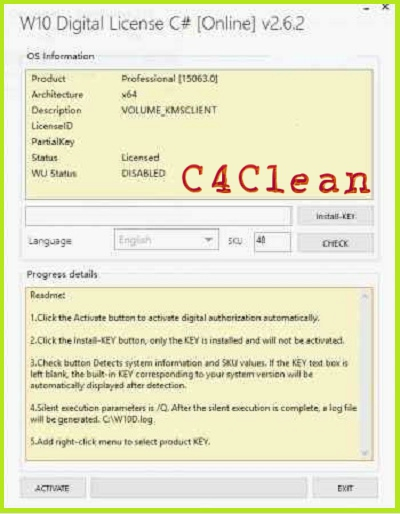 Windows 10 digital license key v279 c full free download c 4 clean screen shot ccuart Image collections