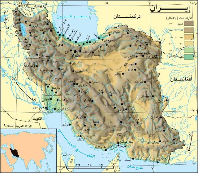 خريطة إيران Iran Map