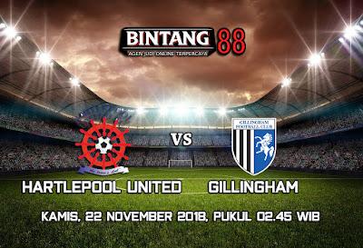 Prediksi Hartlepool united vs Gillingham 22 November 2018