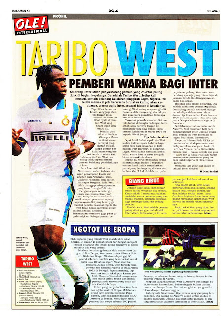 TARIBO WEST PROFILE INTER MILAN