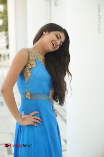 Telugu Actress Akshita (Pallavi Naidu) Latest Stills in Blue Long Dress at Inkenti Nuvve Cheppu Movie Promotions  0065.jpg