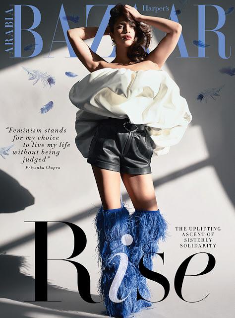 Priyanka Chopra Cover Girl of Harper's Bazaar Arabia February 2018
