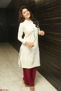 Chitra Shukla in Cream Kurti and Maroon Paijama at Maa Abbayi Audio Release on 20th Feb 2017 074.JPG
