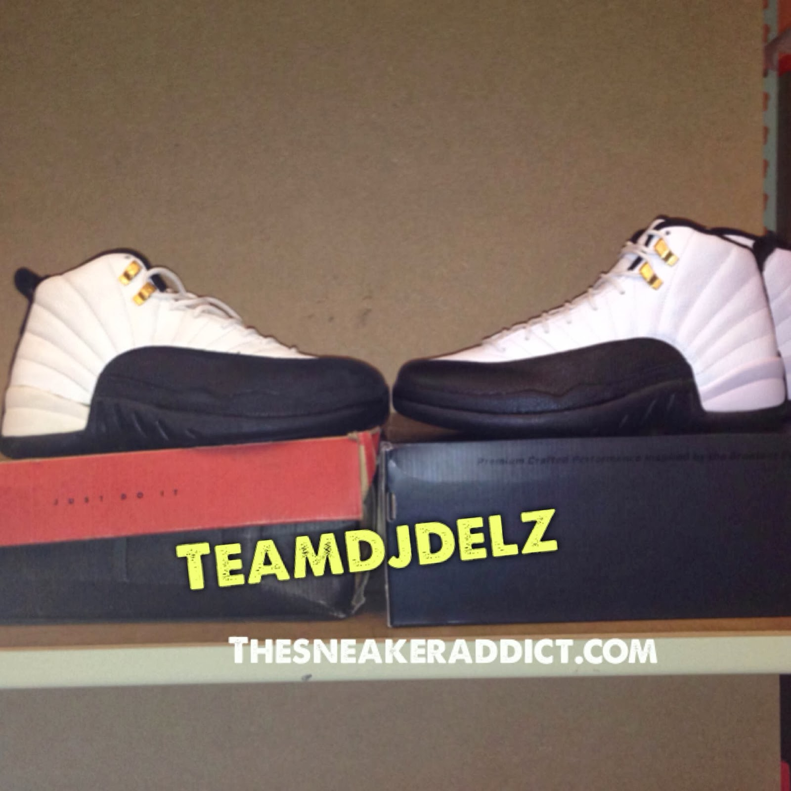 ef21555df1cb6 Here is some photos  Video that Dj Delz took of the 1996 VS 2013 Air Jordan  Taxi 12 XII Sneakers