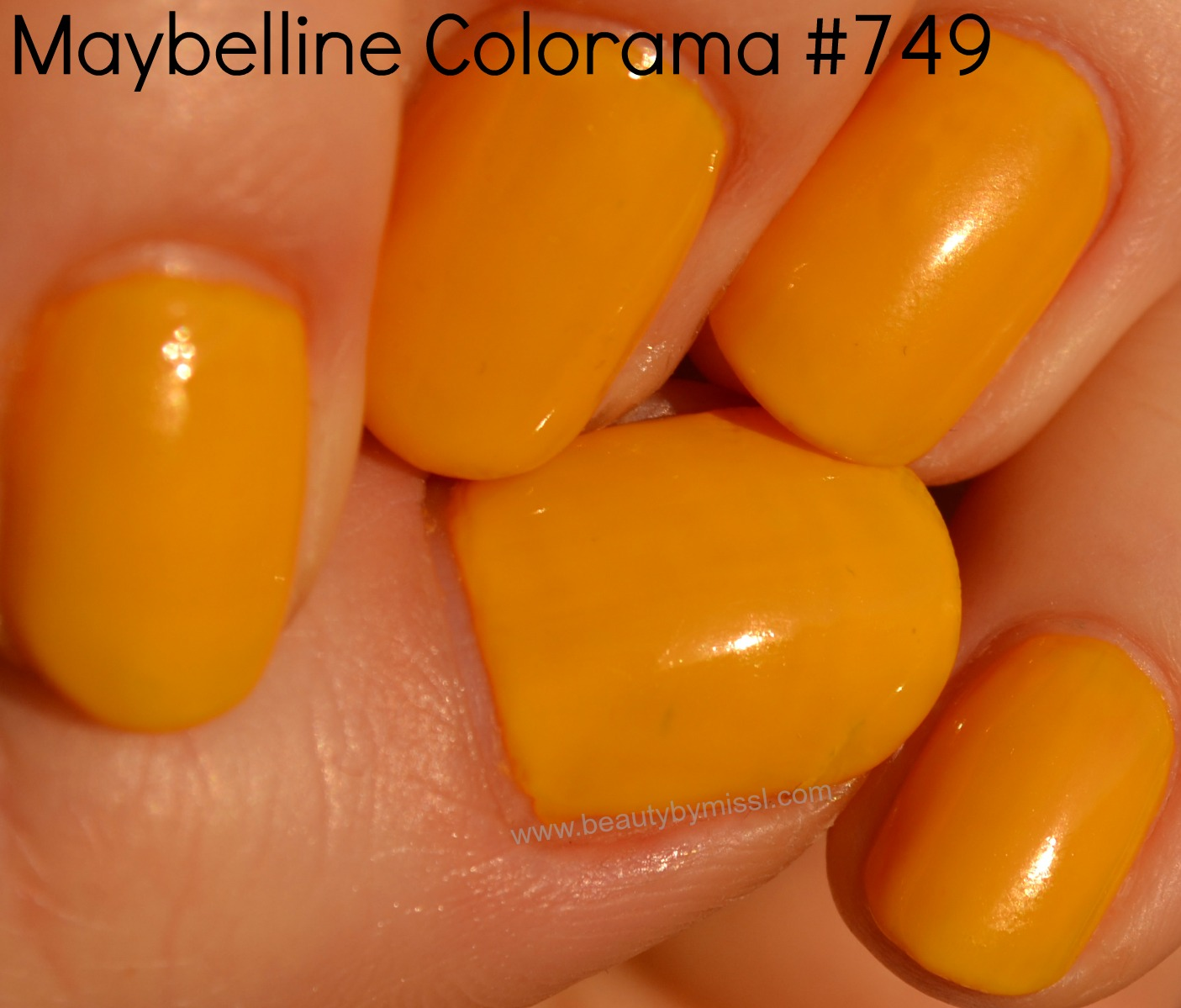 yellow nail polish notd manicure