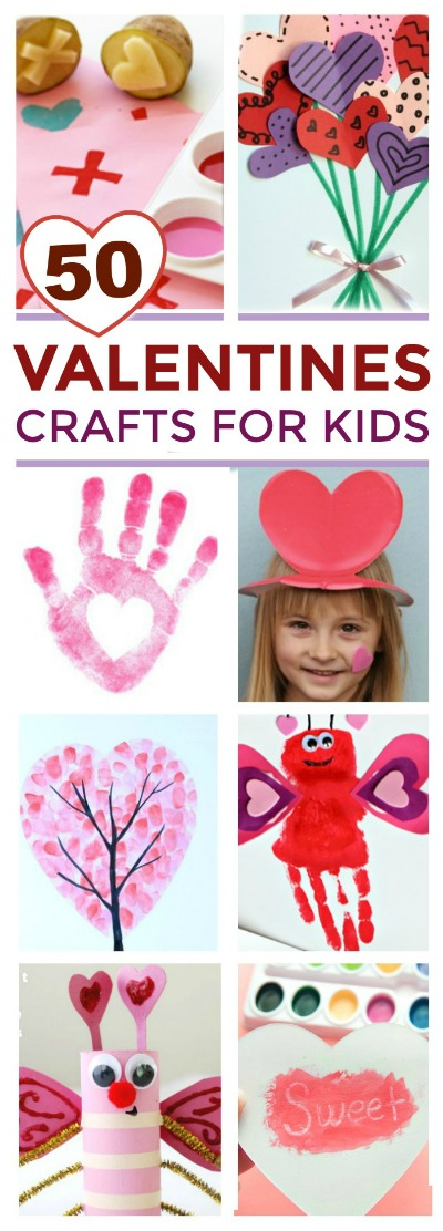 50+ VALENTINES CRAFTS FOR KIDS:  These are adorable!  Pin!  #valentinesforkids #valentinescrafts #valentinesactivitiesforkids