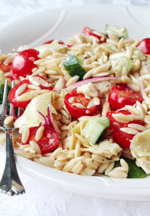 Artichoke Hearts and Orzo Salad